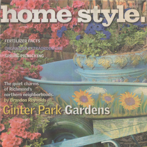 """Cover of """"Home Style"""" Magazine of potted plants"""