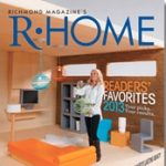 Cover of R-Home Magazine with woman in home office with orange chair
