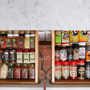 Organized drawer of spices